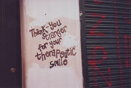 smiling stranger